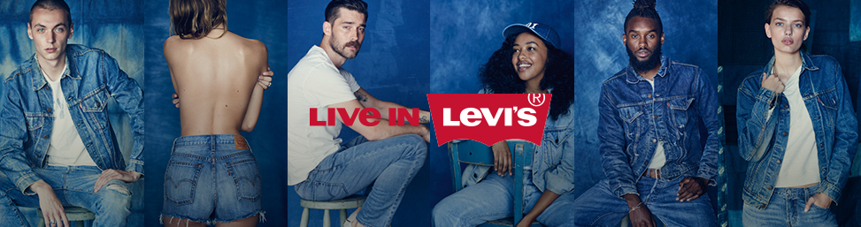 Levi's denim jeans and clothing online at Glue Store